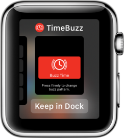 Put TimeBuzz in the Dock