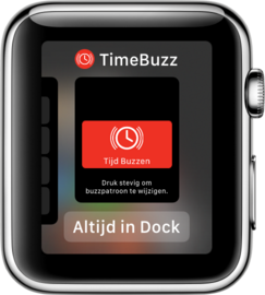Zet TimeBuzz in de Dock